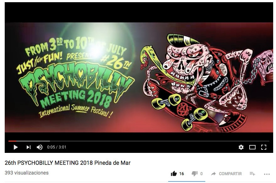 26th Psychobilly Meeting 2018 Video promo