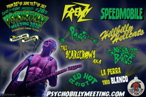 ANNOUNCE OF THE NEXT 4 BANDS OF THE 2020 PSYCHOBILLY MEETING FESTIVAL
