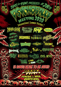 5th ANNOUNCEMENT OF THE NEXT 6 BANDS OF THE PSYCHOBILLY MEETING FESTIVAL2020